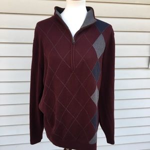 Haggar sweater 3/4 zip